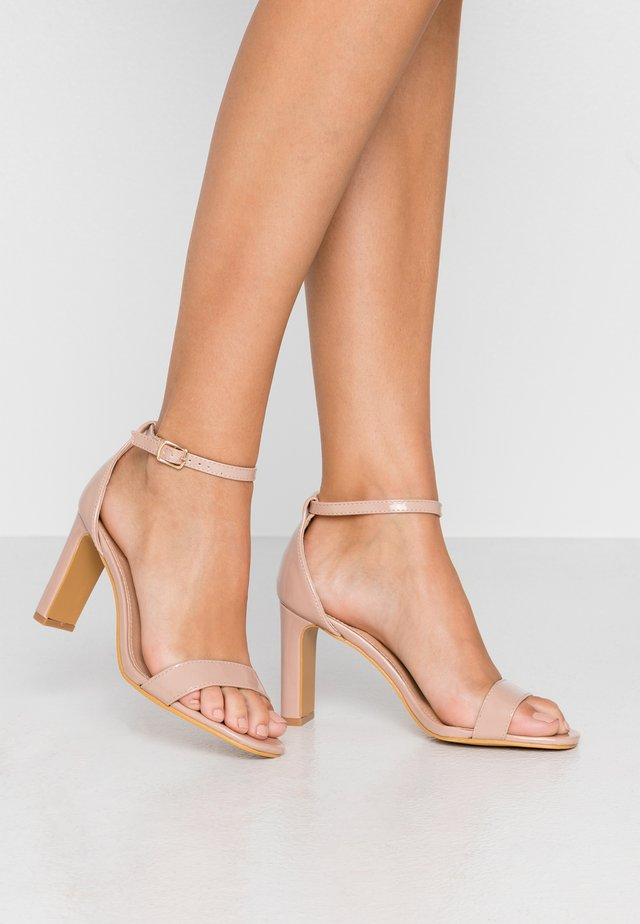 WIDE FIT - High heeled sandals - nude