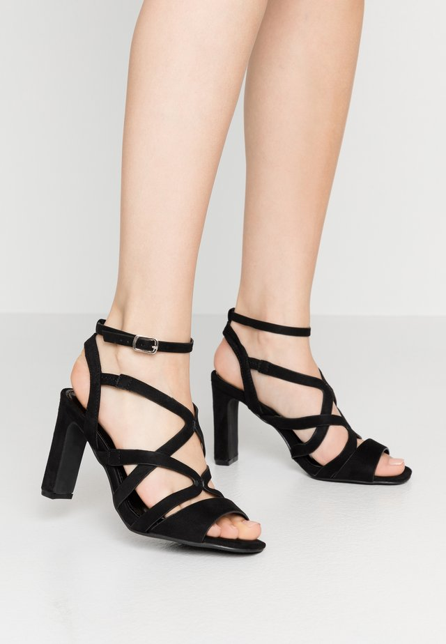 WIDE FIT GENEVA - High heeled sandals - black