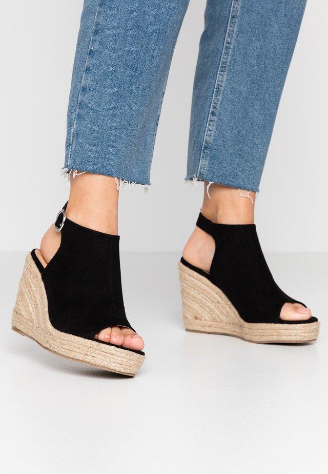 WIDE FIT PERU - Sandaletter - black