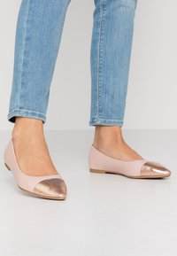 Simply Be - WIDE FIT HERA - Ballet pumps - nude/rose gold - 0