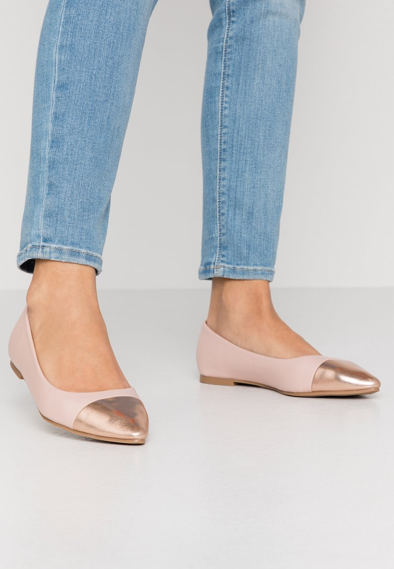 Simply Be - WIDE FIT HERA - Ballet pumps - nude/rose gold