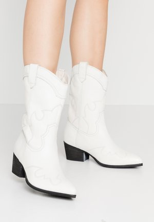 WIDE FIT AZALEA - Cowboystøvletter - white