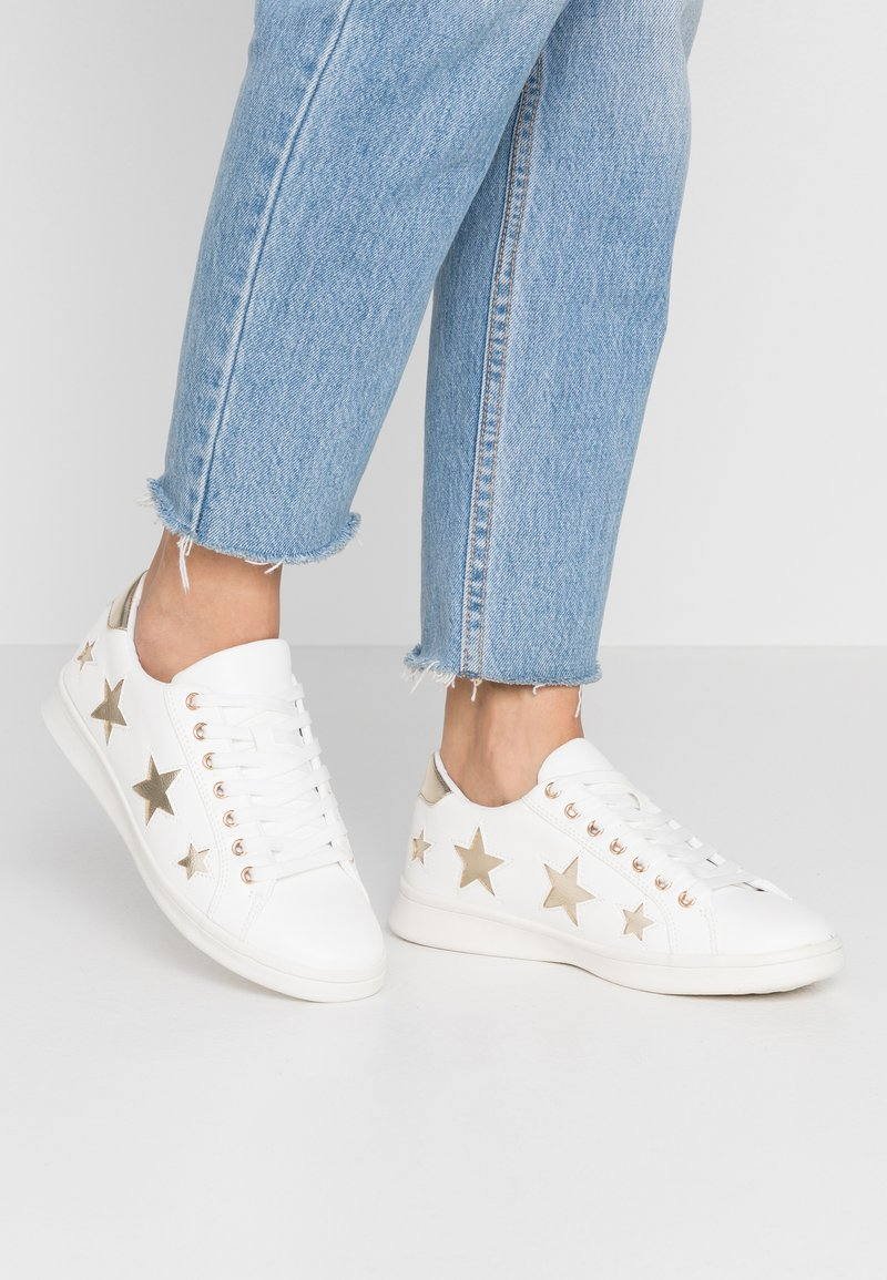 Simply Be - WIDE FIT STARRY - Trainers - white