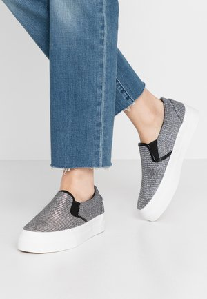WIDE FIT SUNNY - Slip-ons - pewter