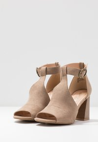 Simply Be - WIDE FIT PHOENIX - High heeled sandals - sand - 4