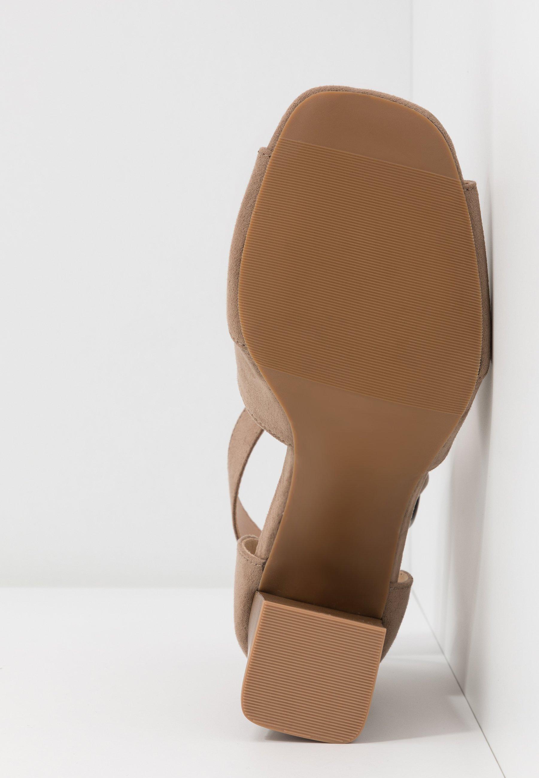 Simply Be WIDE FIT PHOENIX - Højhælede sandaletter / Højhælede sandaler - sand