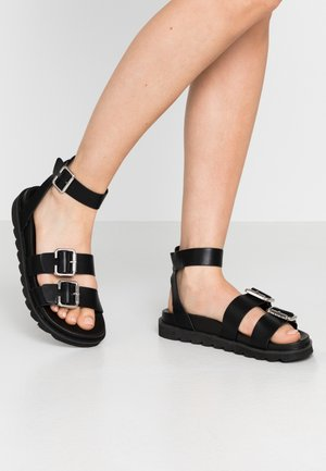 WIDE FIT TULSA STRAP - Sandals - black