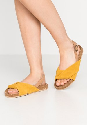 WIDE FIT BERMUDA - Sandals - yellow