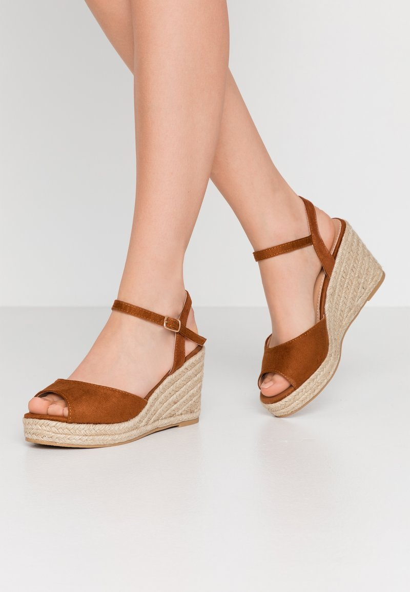 Simply Be - WIDE FIT DREE - High heeled sandals - tan