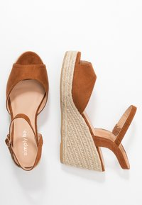 Simply Be - WIDE FIT DREE - High heeled sandals - tan - 3