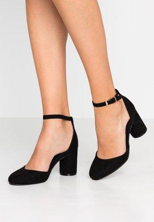 WIDE FIT ROUND BLOCK HEEL - Classic heels - black