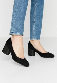 Simply Be - WIDE FIT CLAUDIUS - Classic heels - black - 0