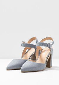 Simply Be - WIDE FIT AURELIAN - Escarpins à talons hauts - dusky blue - 4