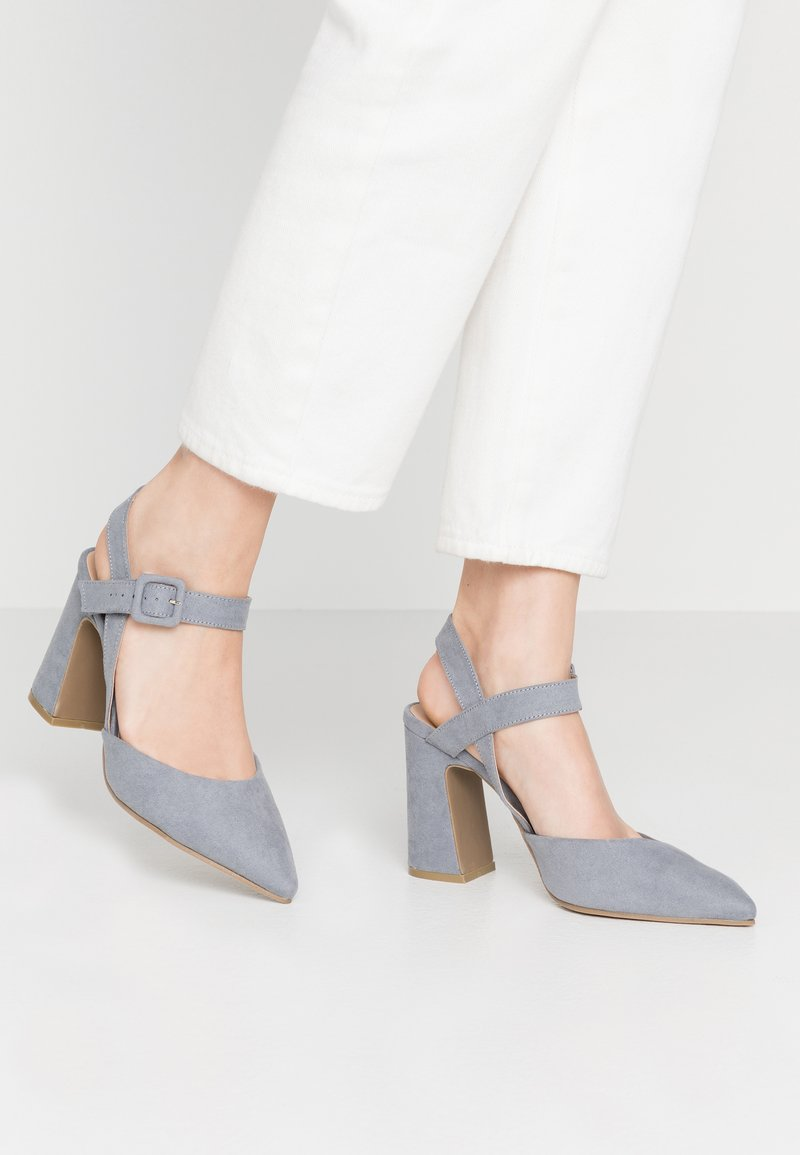 Simply Be - WIDE FIT AURELIAN - Escarpins à talons hauts - dusky blue