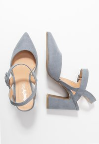 Simply Be - WIDE FIT AURELIAN - Escarpins à talons hauts - dusky blue - 3