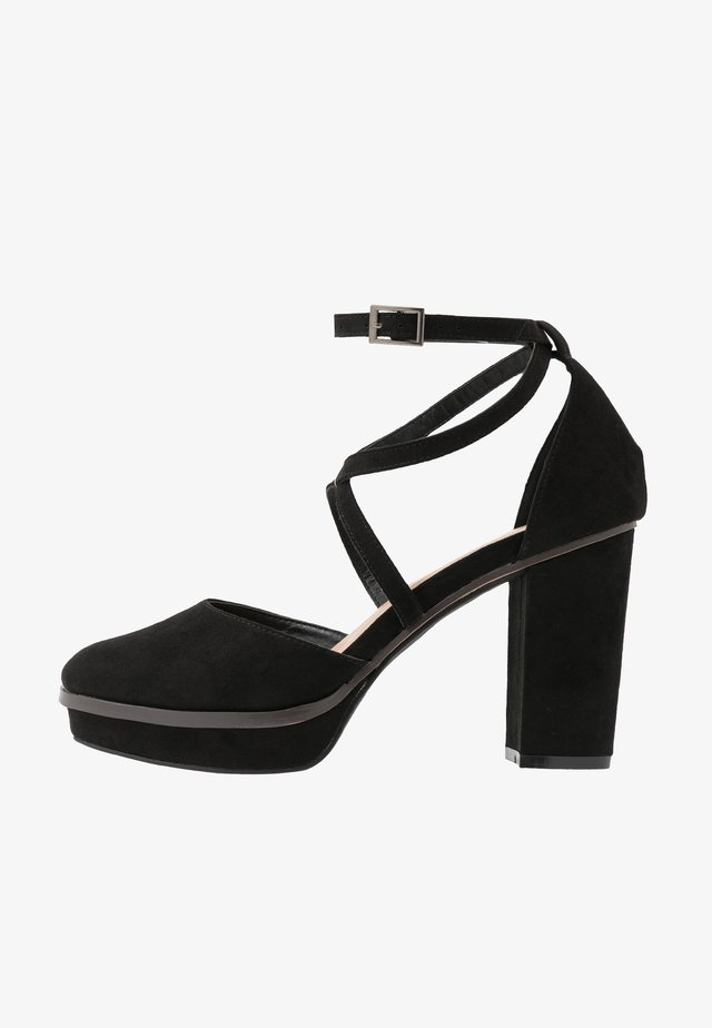 WIDE FIT BELLONA - High heels - black