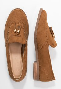 Simply Be - WIDE FIT JESSICA - Loaferit/pistokkaat - tan - 3