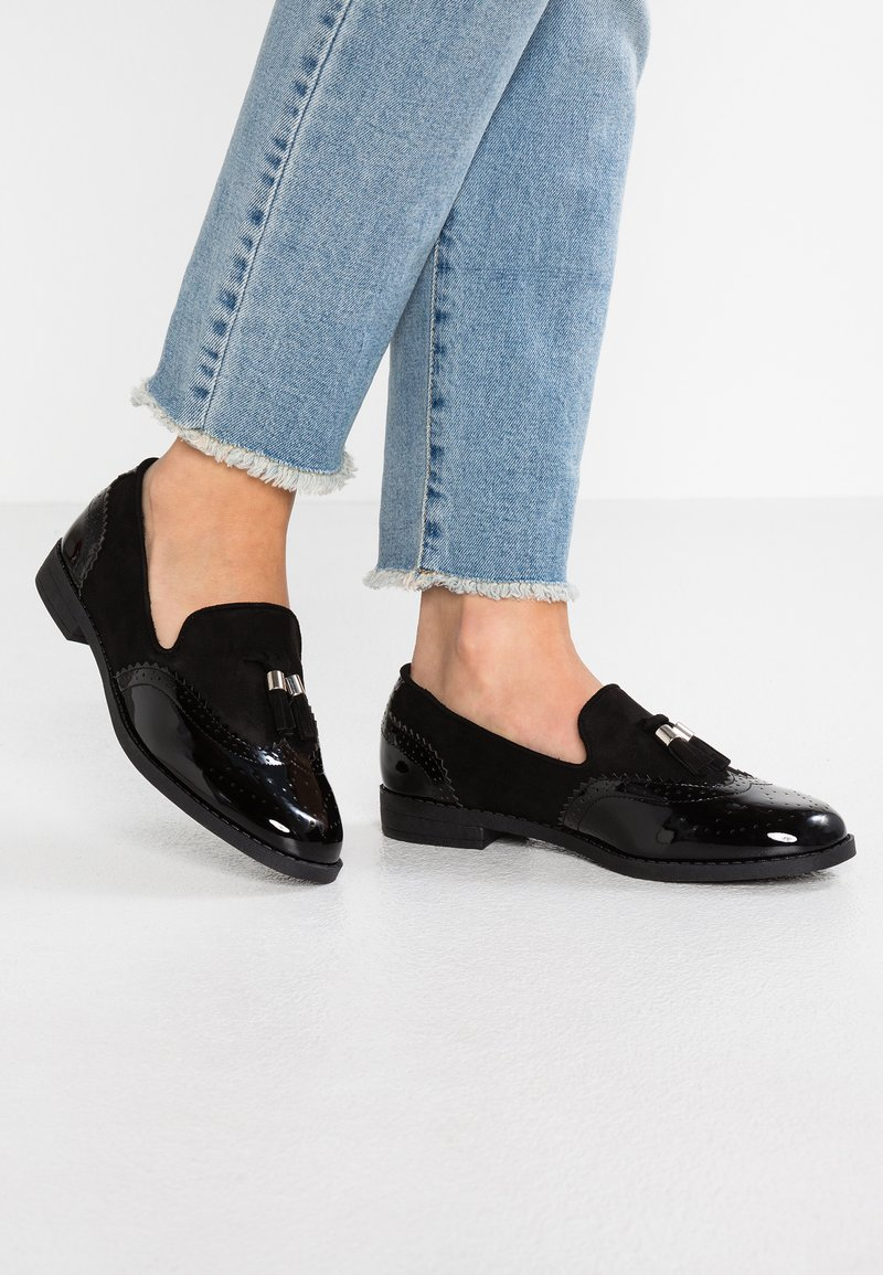 Simply Be - WIDE FIT JESSICA - Slip-ons - black