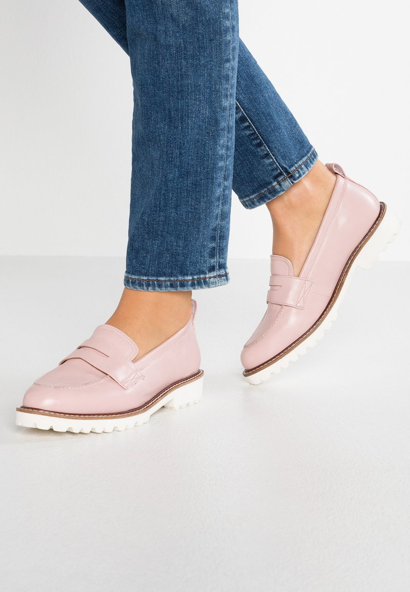 Simply Be - WIDE FIT KEISHA CHUNKY LOAFER - Mocasines - pink
