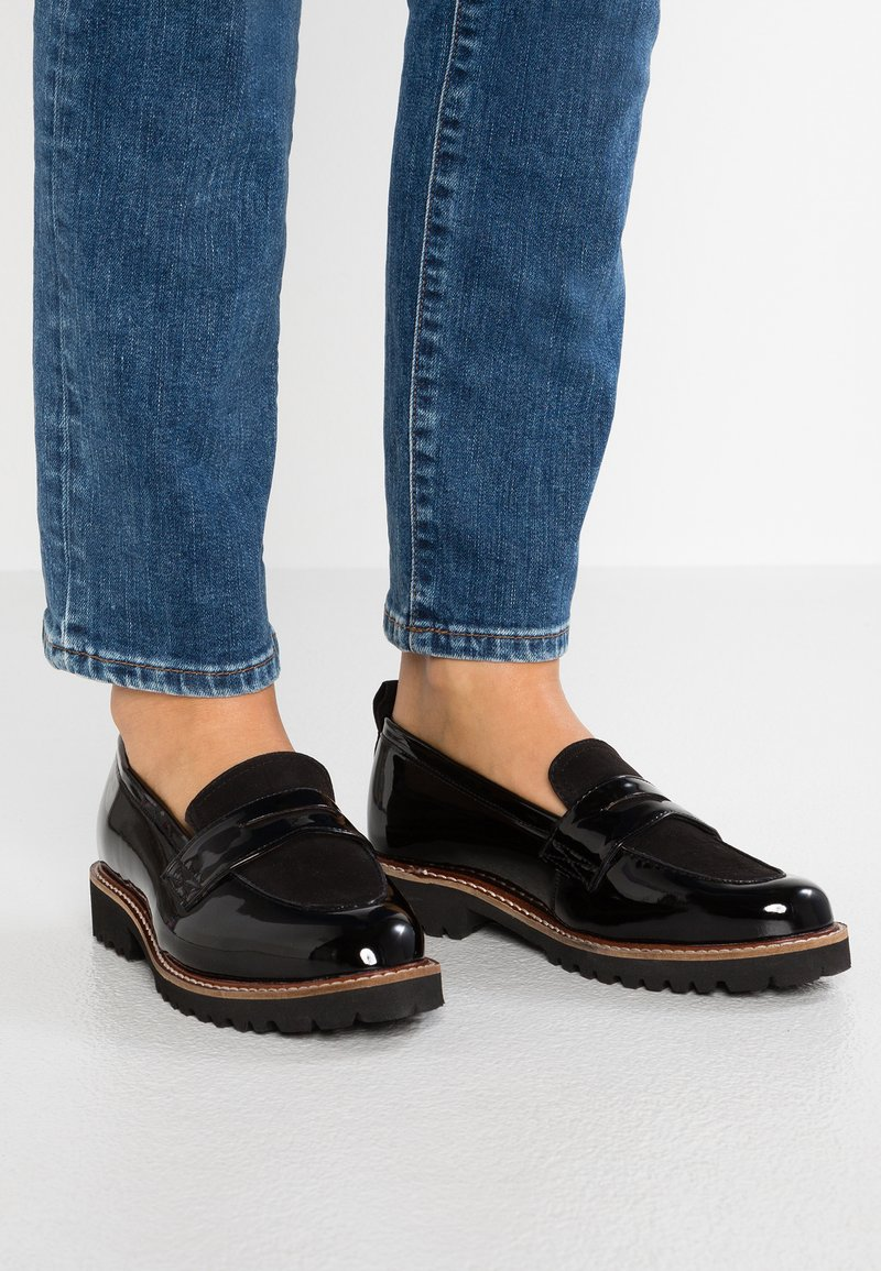 Simply Be - WIDE FIT KEISHA CHUNKY LOAFER - Slip-ons - black