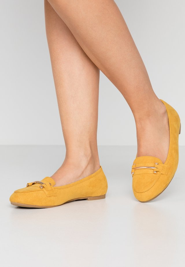 WIDE FIT TYCHE - Loafers - yellow