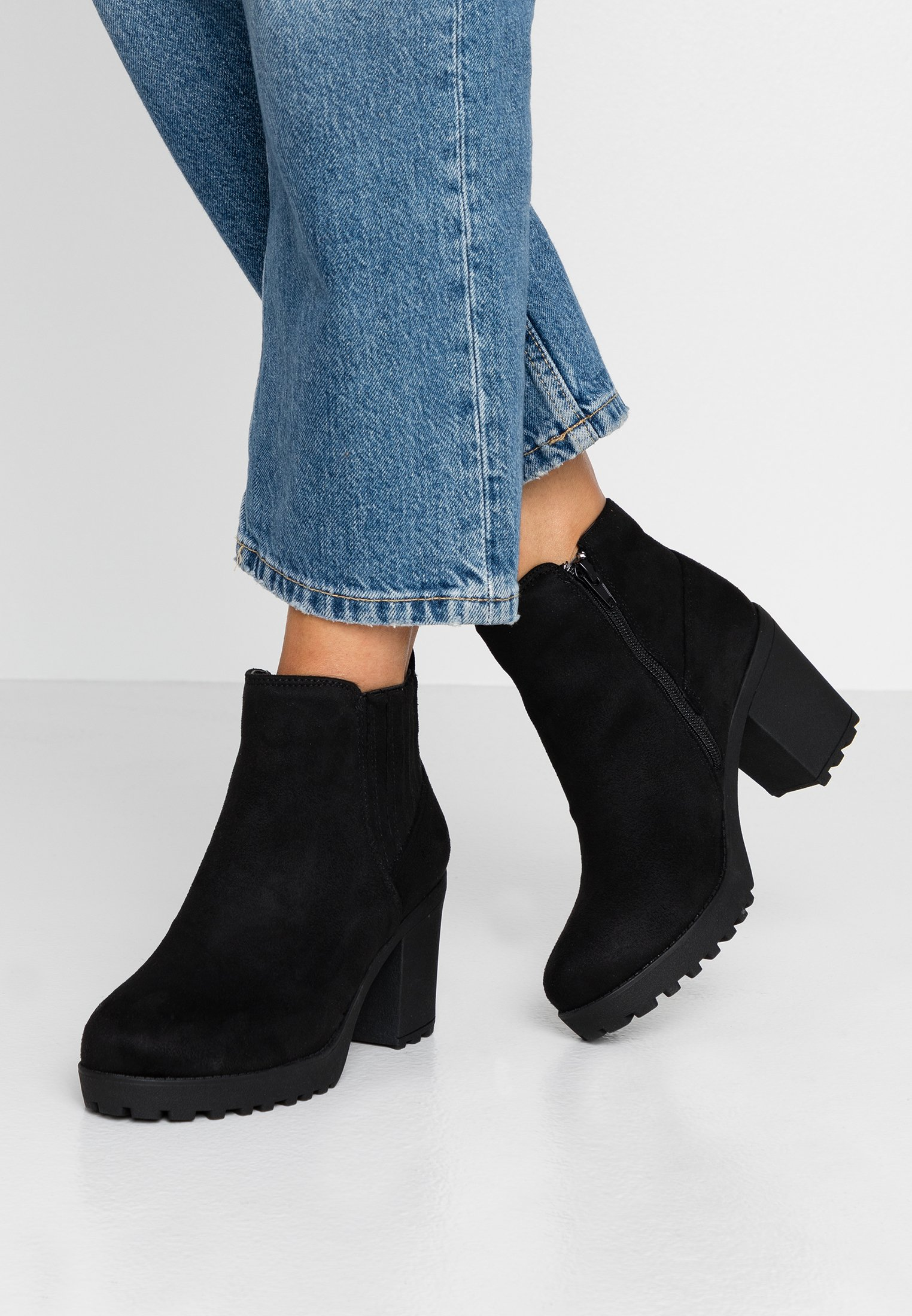 Black Heel ChelseaBoots Wide Fit À Chunky Simply Talons Be deCrBWox