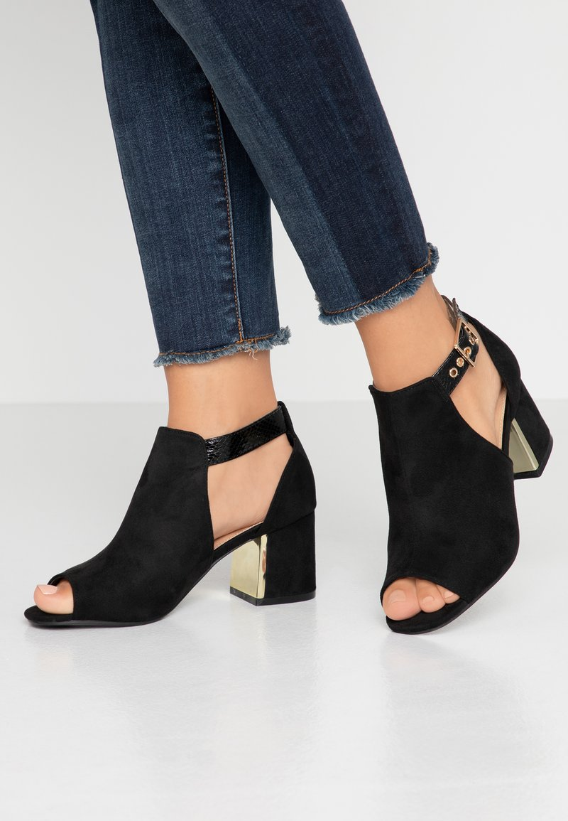 Simply Be - WIDE FIT DETAIL SHOE - Sandali con cinturino - black