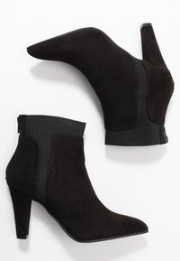 Simply Be - WIDE FIT AUDREY POINTED INSERT HEELED - Ankle boots - black - 3