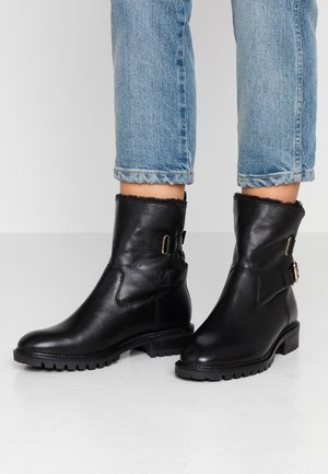 WIDE FIT BUCKLE BOOT - Classic ankle boots - black
