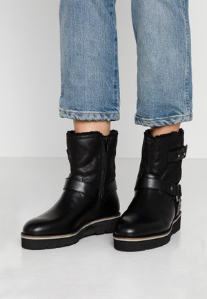 WIDE FIT ZOE LINED BIKER BOOT - Cowboystøvletter - black