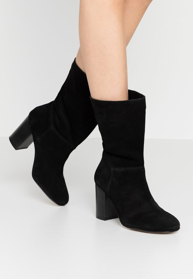 Simply Be - WIDE FIT GARDENIA - Classic ankle boots - black