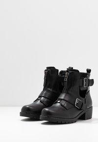 Simply Be - WIDE FIT MISHA - Kovbojské/motorkářské boty - black - 4