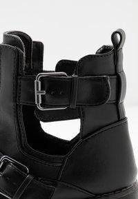 Simply Be - WIDE FIT MISHA - Kovbojské/motorkářské boty - black - 2