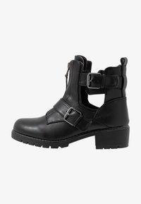Simply Be - WIDE FIT MISHA - Kovbojské/motorkářské boty - black - 1