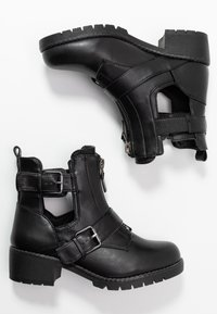 Simply Be - WIDE FIT MISHA - Kovbojské/motorkářské boty - black - 3