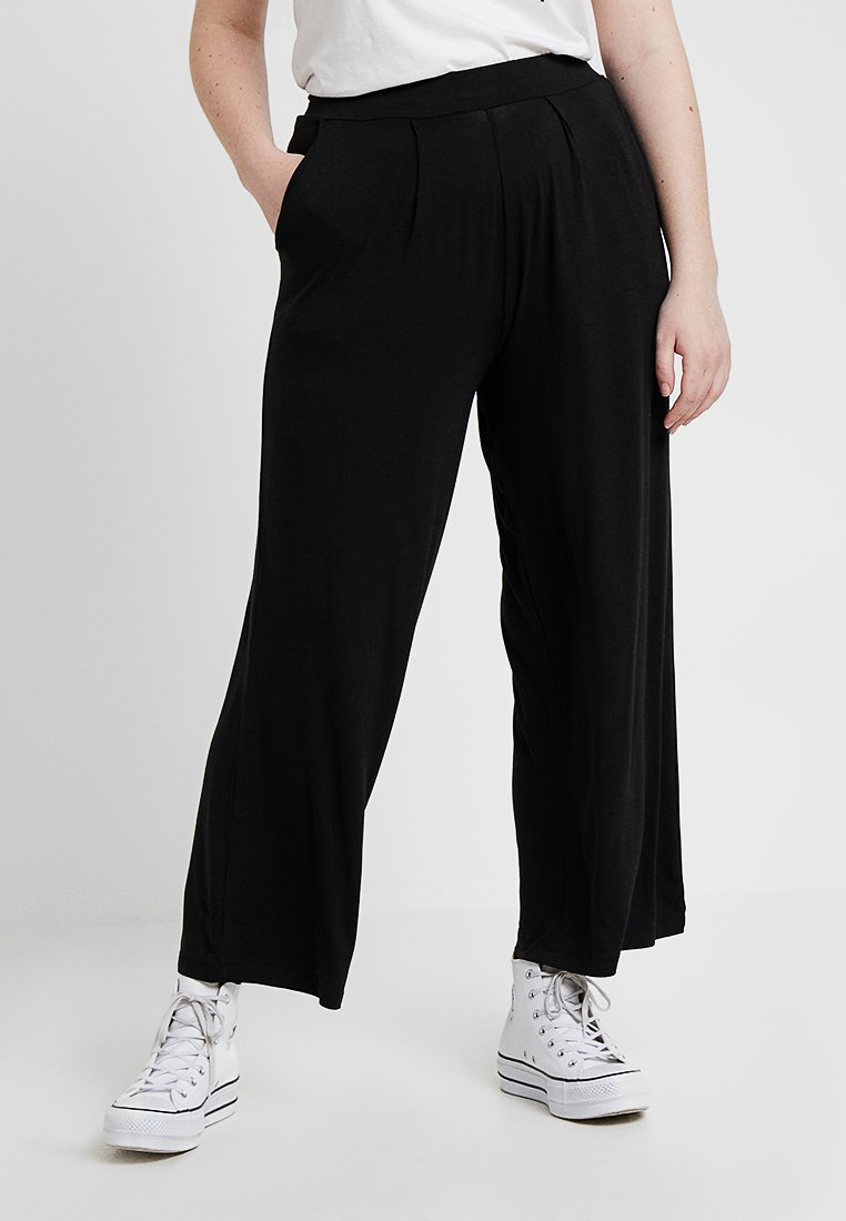 Simply Be - WIDE LEG TROUSERS 2 PACK - Stoffhose - black/grey