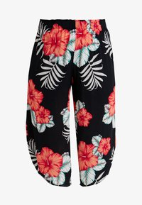 Simply Be - PRINT CURVED CULOTTES FLORAL - Shortsit - black - 3