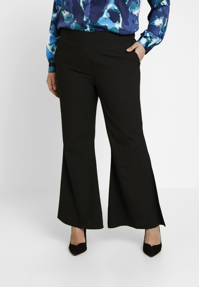 Simply Be - STATEMENT WIDE PLAIN - Bukser - black
