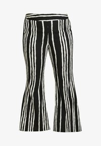 Simply Be - STATEMENT WIDE PRINT - Bukse - black/white - 4