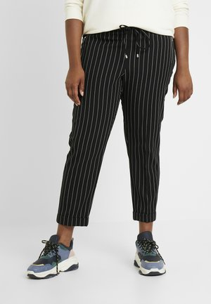 POCKET DETAIL TAPERED TURN UP TROUSER - Kangashousut - black