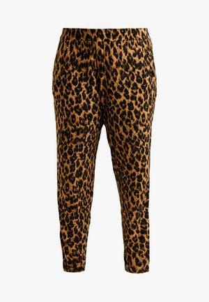 LEOPARD PRINT HAREM TROUSER - Pantalon classique - brown