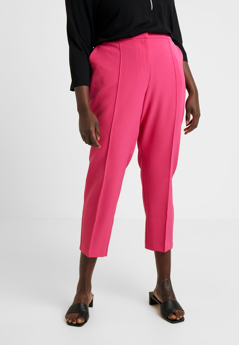 Simply Be - PRESS TROUSER - Kalhoty - pink