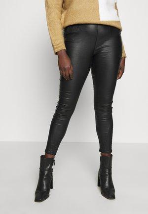 COATED HIGH WAIST SHAPER JEGGINGS - Pantalon classique - black