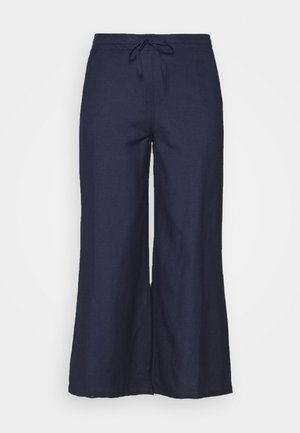 EASY CARE WIDE - Pantaloni - navy