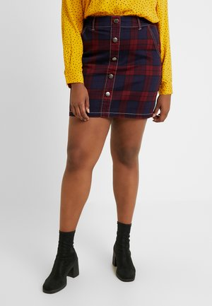 CHECKED SKIRT - Jupe trapèze - red