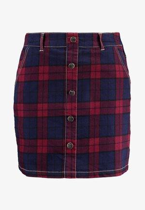 CHECKED SKIRT - A-snit nederdel/ A-formede nederdele - red