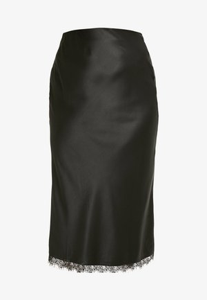 COLUMN SKIRT WITH TRIM - Falda de tubo - black