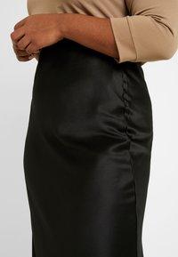 Simply Be - COLUMN SKIRT WITH TRIM - Pouzdrová sukně - black - 4