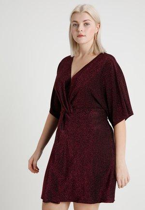 GLITTER KNOT WRAP KIMONO SLEEVE DRESS - Juhlamekko - pink