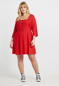 Simply Be - SQUARE NECK TEA DRESS - Blousejurk - red - 1